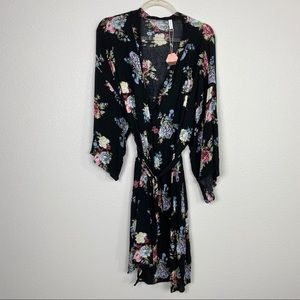 Pinkblush Floral Maternity/Delivery/Nursing Robe